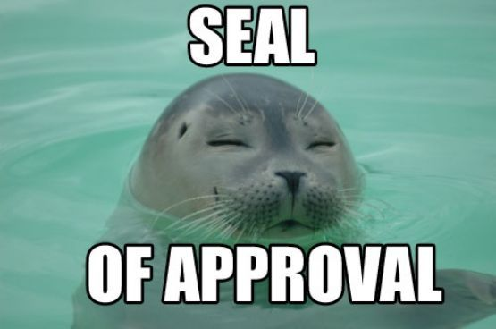 [Image: Seal-of-approval.jpg]