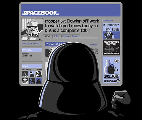 Spacebook He is watching you