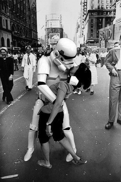 Take the helmet off before you kiss me