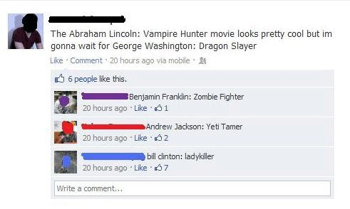 The Abraham Lincoln Vampire Hunter Movie