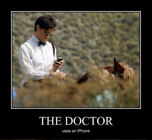 The Doctor uses an iPhone