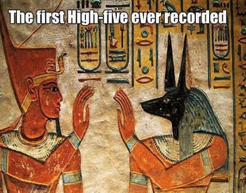The first high five ever