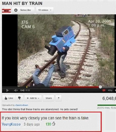 The train is fake