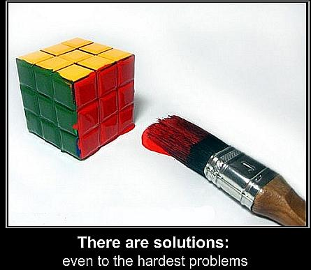 There are solutions to everything