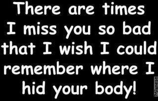There are times I miss you so bad