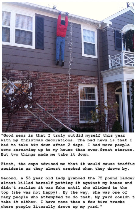 This guy outdid his Christmas decorations this year