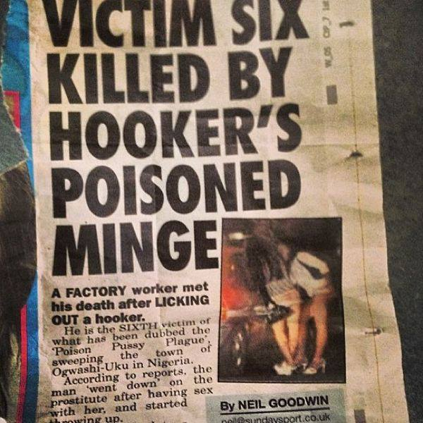 hookers the newspaper