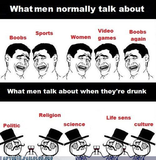 What Men Talk About