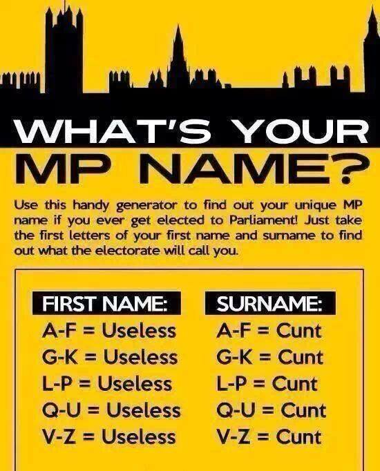 Whats your MPs name