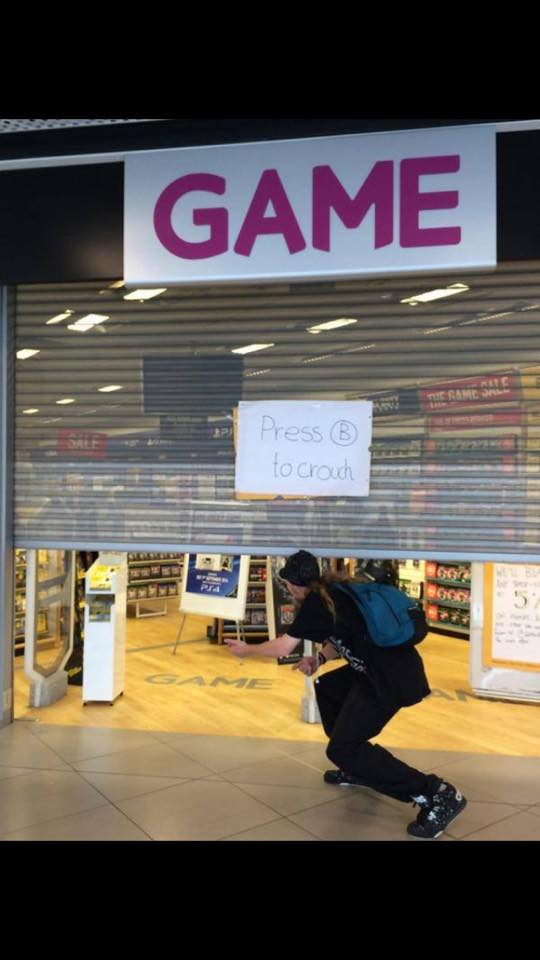When GAME store shutter breaks
