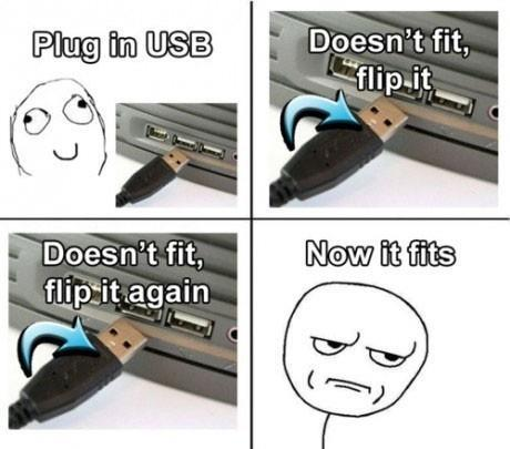 When Plugging In USB