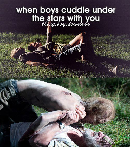 When boys cuddle with you under the stars