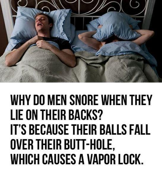 Why do men snore
