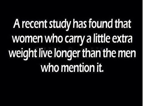 Women who carry a little extra weight live longer than men