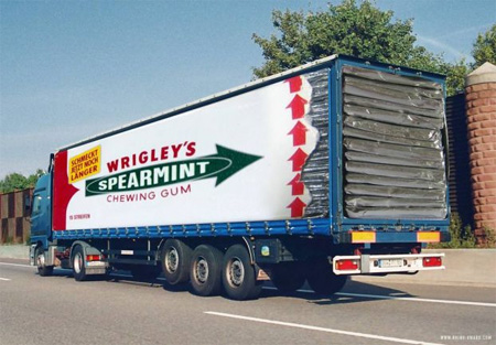 Wrigley's Spearmint Chewing Gum Truck