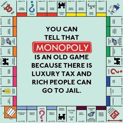 You can tell that Monopoly is an old game