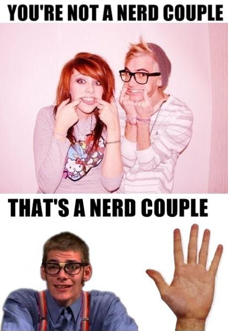 You're Not A Nerd Couple....