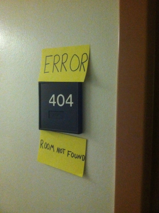 404 Error Room not found