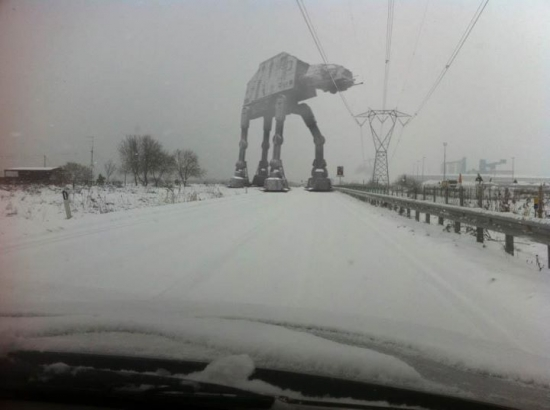 An AT AT in the Snow Seems Legit
