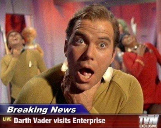 Breaking News Darth Vader Visits Enterprise