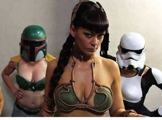 Burlesque Bounty Hunters and Stormtrooper