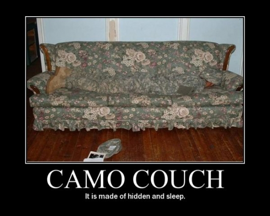 Camo Couch I see you2