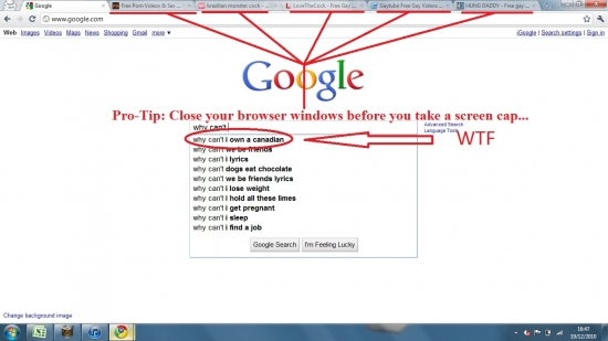 Check whats on your browswer window first