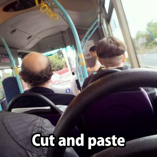 Cut and paste hair