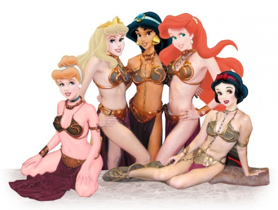 Disney Princesses in Leia Outfit