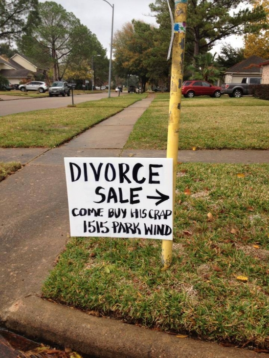 Divorce Sale