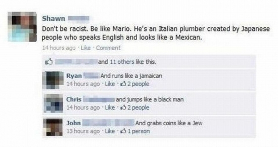 Dont be racist like Mario
