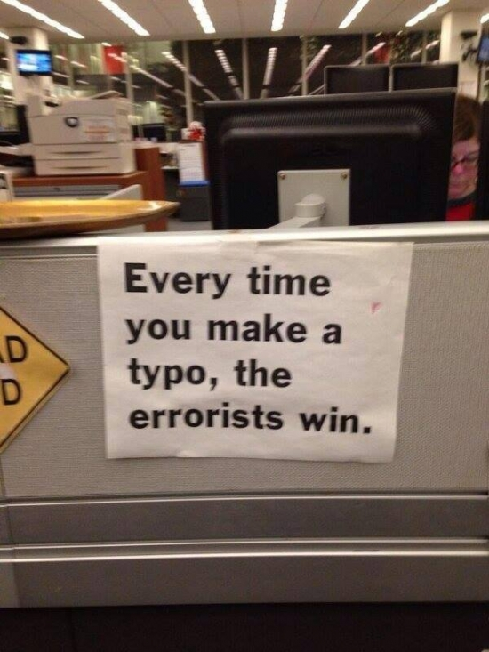 Every time you make a typo...
