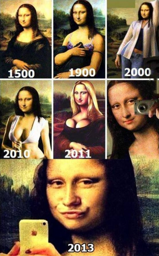 Evolution of Mona Lisa