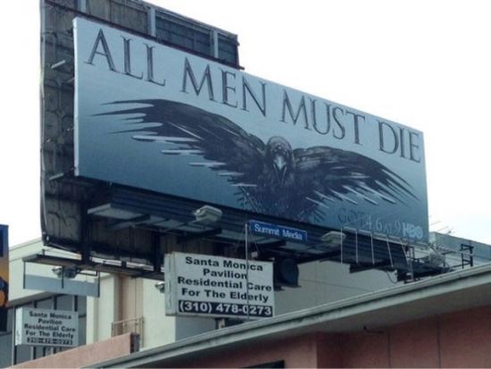 Game of Thrones Inappropriate Billboard