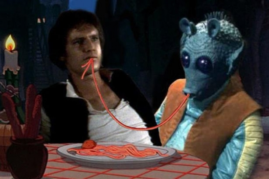 Han Solo and Greedo Sharing A Meal