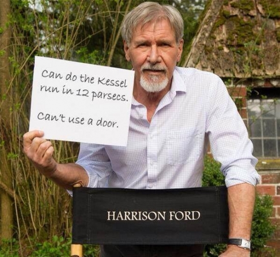 Harrison Ford cant use a door