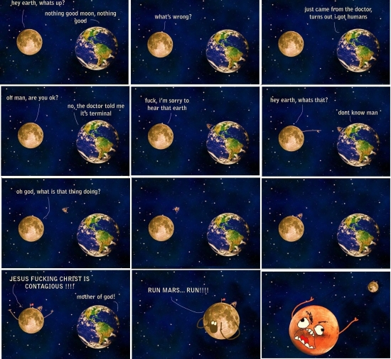How the planets feel about us