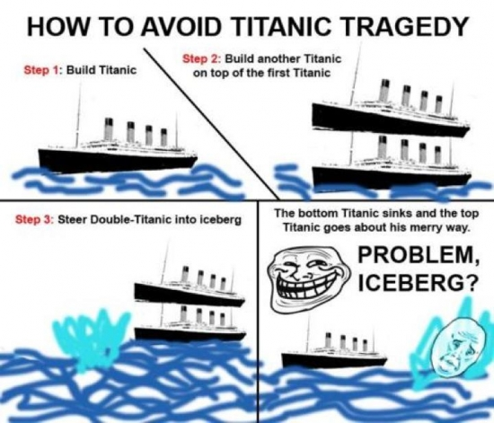 How to avoid the Titanic tragedy