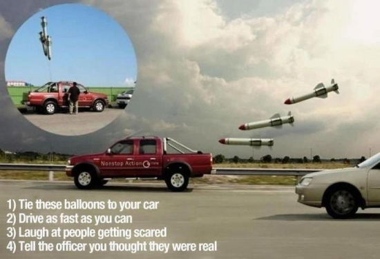 How to freak out other road users