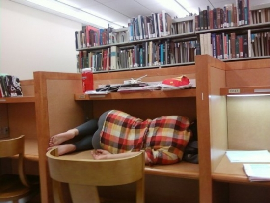 How to sleep in the library