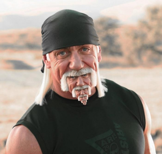 Hulk Hogan over and over and over