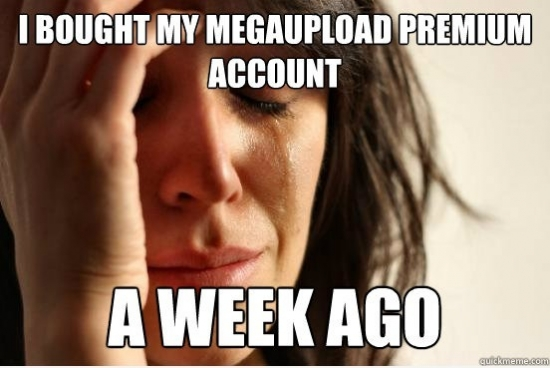 I bought my megaupload premium account a week ago