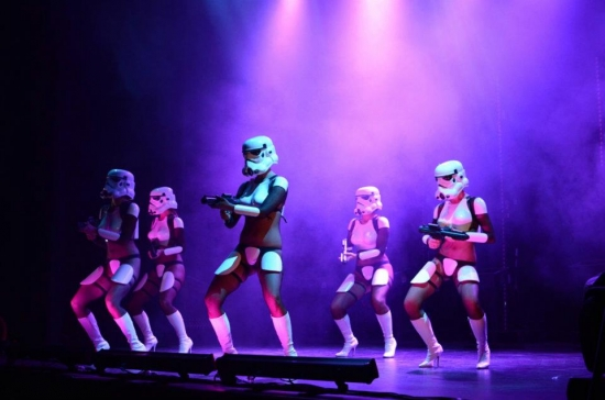Ive got 101 problems but dancing in heels and a stormtrooper helmet aint one of them