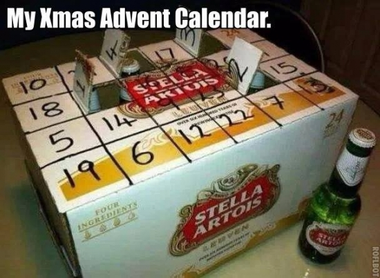 My kind of Xmas advent calendar