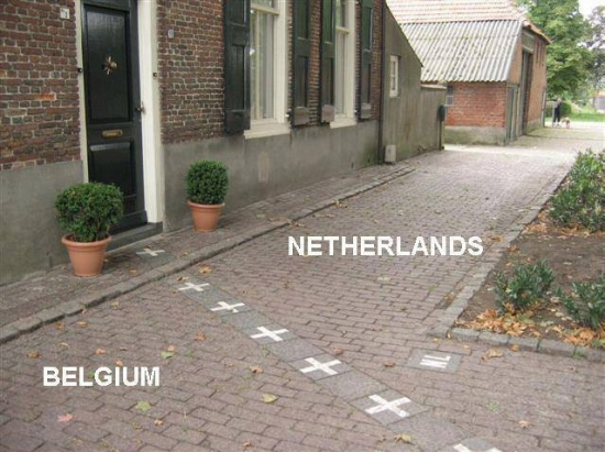 Netherlands and Belgium border