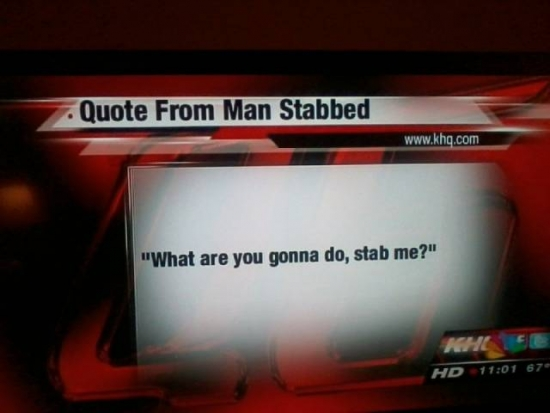 Quote from man stabbed