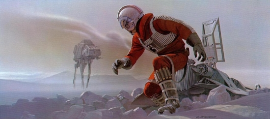 Ralph McQuarrie Crashed Snow Speeder