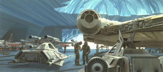 Ralph McQuarrie Echo Base on Hoth