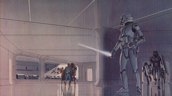 Ralph McQuarrie Escape from the Death Star