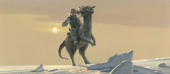 Ralph McQuarrie Luke Skywalker on a Tauntaun
